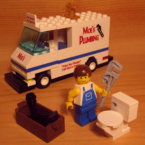 Dan's Custom Moe the Plumber (for your LEGO town)