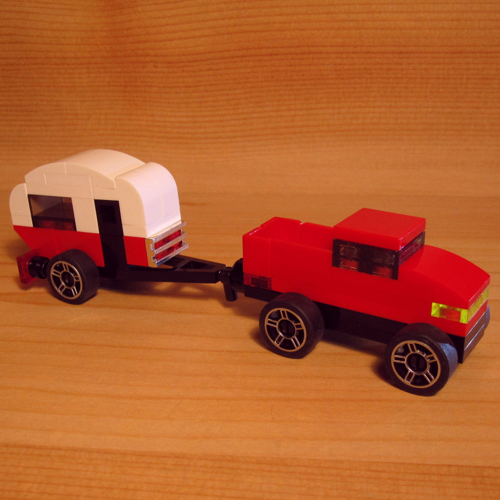 Dan's Custom Tiny Teardrop Camper With Tow Vehicle: Combo Pack (LEGO Microbuild)