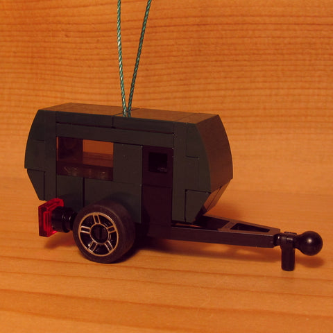 Dan's Custom Christmas Ornament: Tiny Teardrop Camper (LEGO Microbuild)