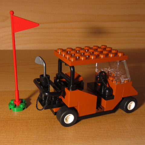 Dan's Custom Golf Cart Dark Orange (for your LEGO town)