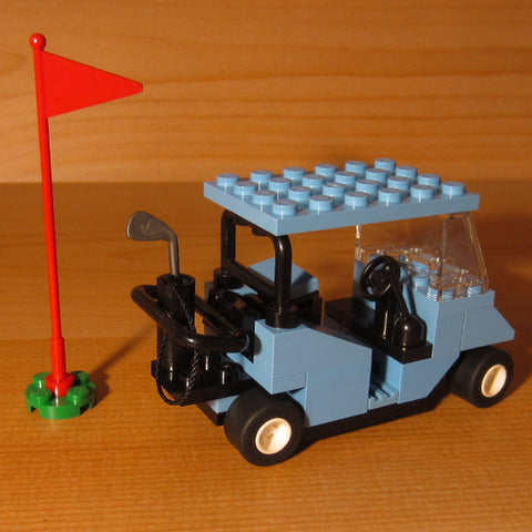 Dan's Custom Golf Cart Light Blue (for your LEGO town)