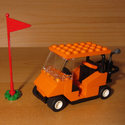 Dan's Custom Golf Cart Orange (for your LEGO town)