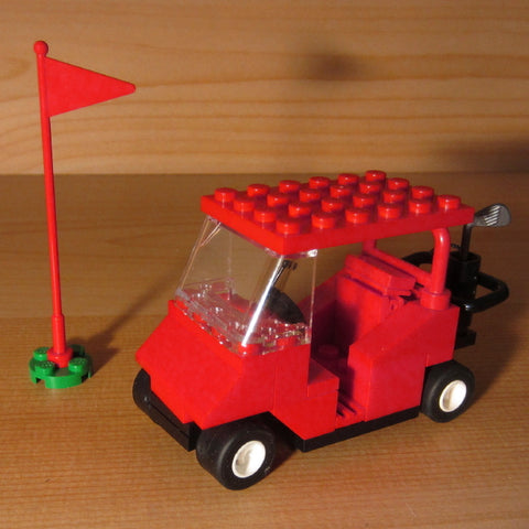 Dan's Custom Golf Cart Red (for your LEGO town)