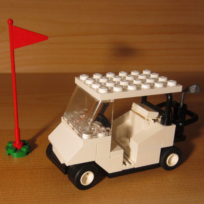 Dan's Custom Golf Cart White (for your LEGO town)