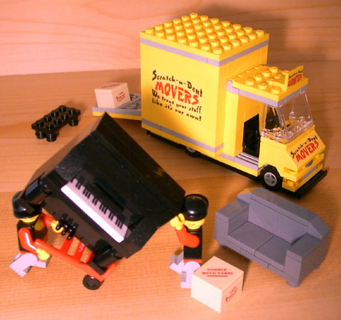 Dan's Custom Movers Truck Set (for your LEGO town)