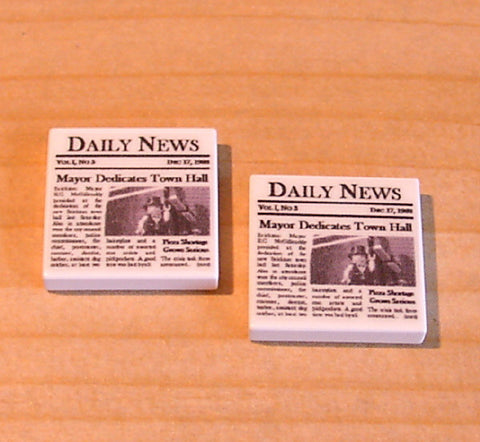 Dan's Custom Newspaper Pack (for your LEGO town)