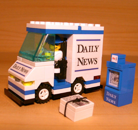 Dan's Custom Newspaper Delivery Van (for your LEGO town)