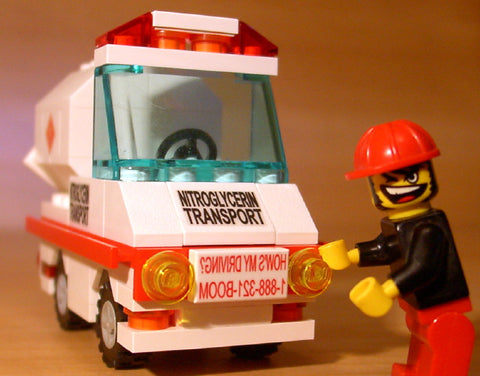Dan's Custom Nitroglycerin Transport Vehicle (for your LEGO town)