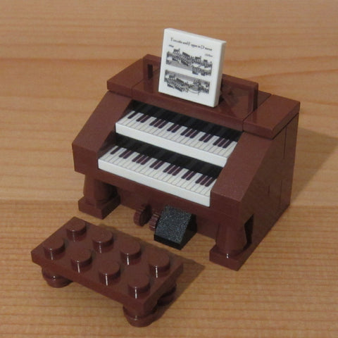 Dan's Custom Spinet Organ Brown (for your LEGO town)