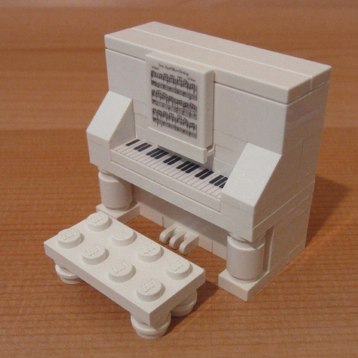 Dan's Custom Upright Piano White (for your LEGO town)