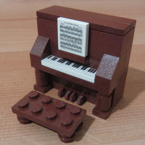 Dan's Custom Upright Piano Brown (for your LEGO town)