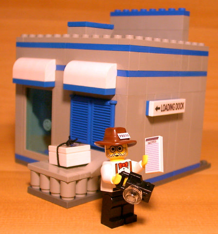 Dan's Custom Newspaper Print Shop (for your LEGO town)