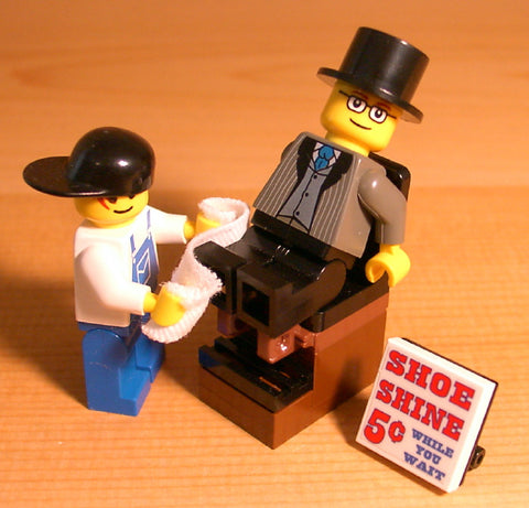 Museum: Dan's Custom Shoeshine Stand (for your LEGO town)