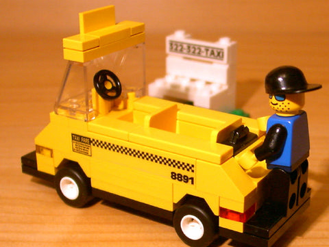 Dan's Custom Taxi Cab Set (for your LEGO town)