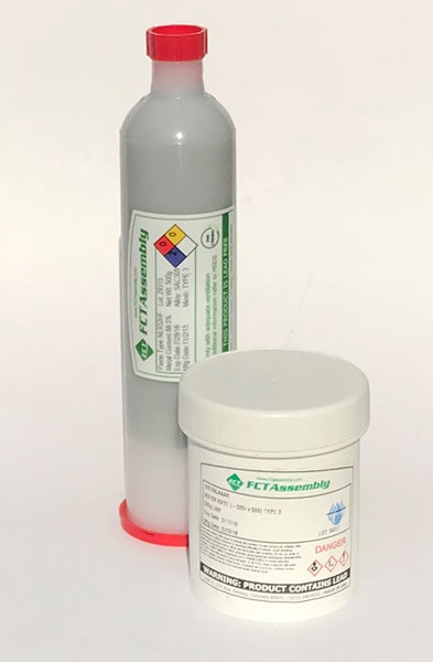 FCT, RMA250 63/37 Leaded No Clean Solder Paste