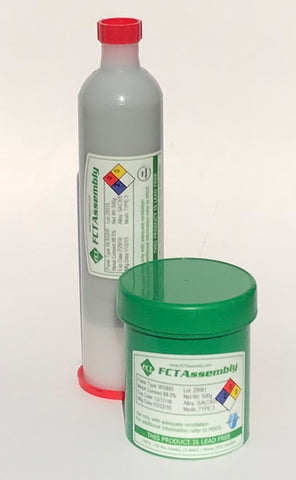 "FCT, AMP ONE ""LOW VOIDING"" Lead Free No Clean Solder Paste"