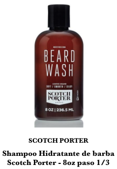 shampoo para barba scotch porter