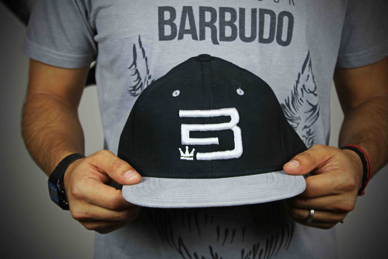 Gorra 'EB' abstract Negra con gris - Emperador Barbudo