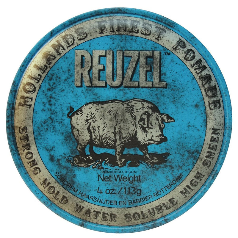Blue Pomade 'Strong Hold' 4oz - Reuzel Mexico