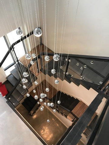 lustre escalier luminaire cage d escalier nouveau grand lustre en cristal moderne cristal led. Black Bedroom Furniture Sets. Home Design Ideas