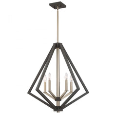 "Artcraft Breezy Point luminaire suspendu 25"" 5 lumieres bronze huilé et laiton satiné AC10685BZ"