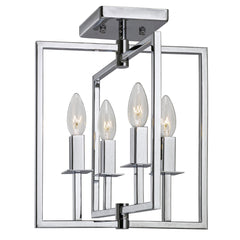 "Copy of Artcraft Allston plafonnier 12"" 4 lumieres chrome AC10724CH"