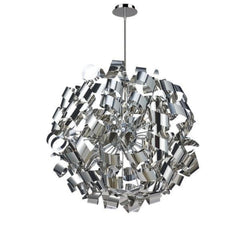 "Artcraft Bel Air luminaire suspendu 34"" chrome AC602CH"