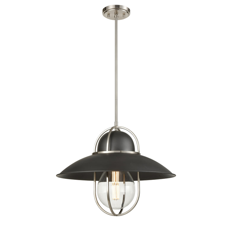 DVI Peggy's Cove luminaire suspension graphite et nickel brossé 31005GR-SN