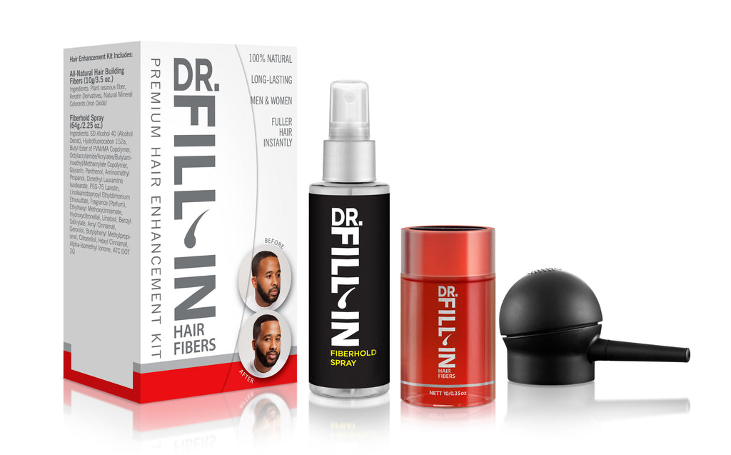 Dr. Fill-In Hair Enhancement Starter Kit for Coarse & Shorter Hair