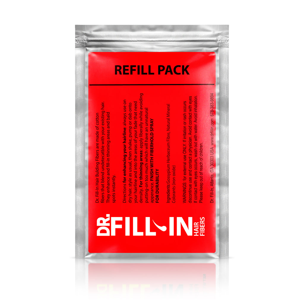 Pro Hair Fiber Refill Packet for Coarse and & Shorter Hair