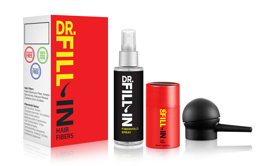 Dr. Fill-In Hair Enhancement Starter Kit for Fine & Longer Hair