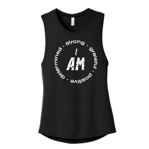 """I AM ..."" Circle Women's Muscle Tank"