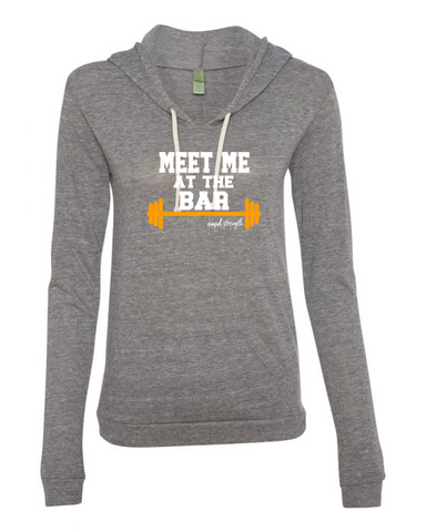 """Meet Me At The Bar"" Classic Pullover Lightweight Hoodie (Women's)"