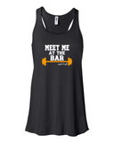 """Meet Me At The Bar"" Flowy Racerback Tank (Women's)"