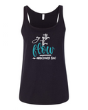 """Go With The Flow"" Relaxed Jersey Tank (Women's)"
