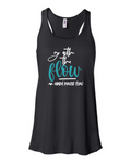 """Go With The Flow"" Flowy Racerback Tank (Women's)"