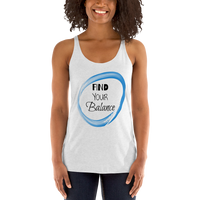 """Find Your Balance"" - Women's Racerback Tank"