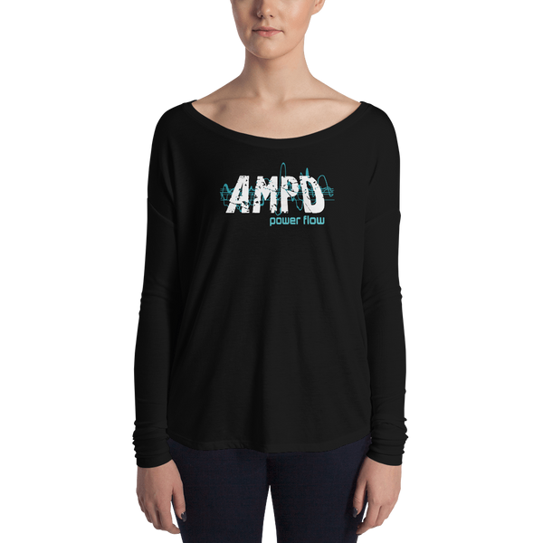 Ladies' Long Sleeve Tee - AMPD Power Flow
