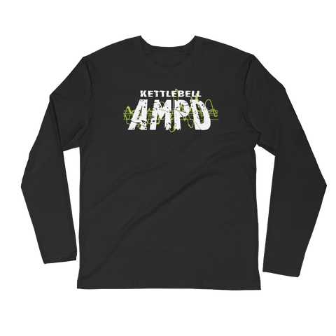 Men's Long Sleeve Fitted Crew - Kettlebell AMPD