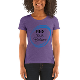 """Find Your Balance"" - Ladies' short sleeve tee"
