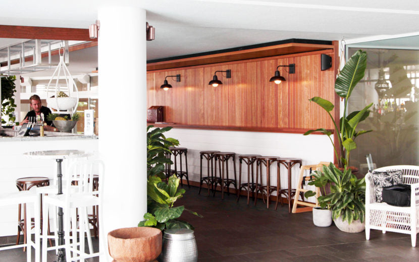 Barn Style Wall Lights in 26 Degrees Bar, Rumba Resort Caloundra
