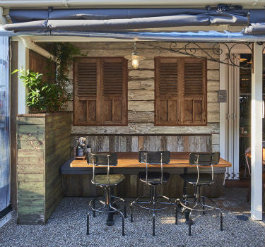 Byron Fresh Cafe | Galvanised Wall Lights | Lighting Collective