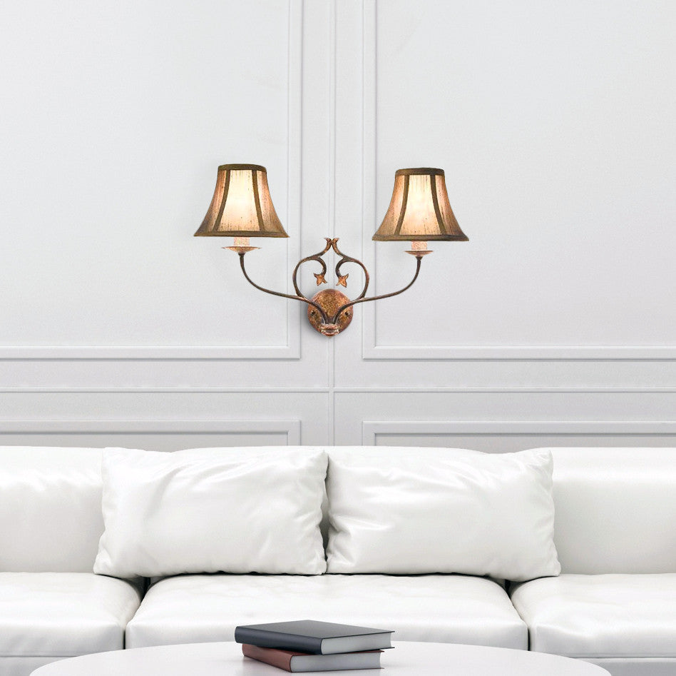 Traditional Two Light Wall Light | Lighting Collective