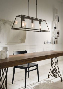 Italian Tapered Bench Lantern Dining Room | Lighting Collective