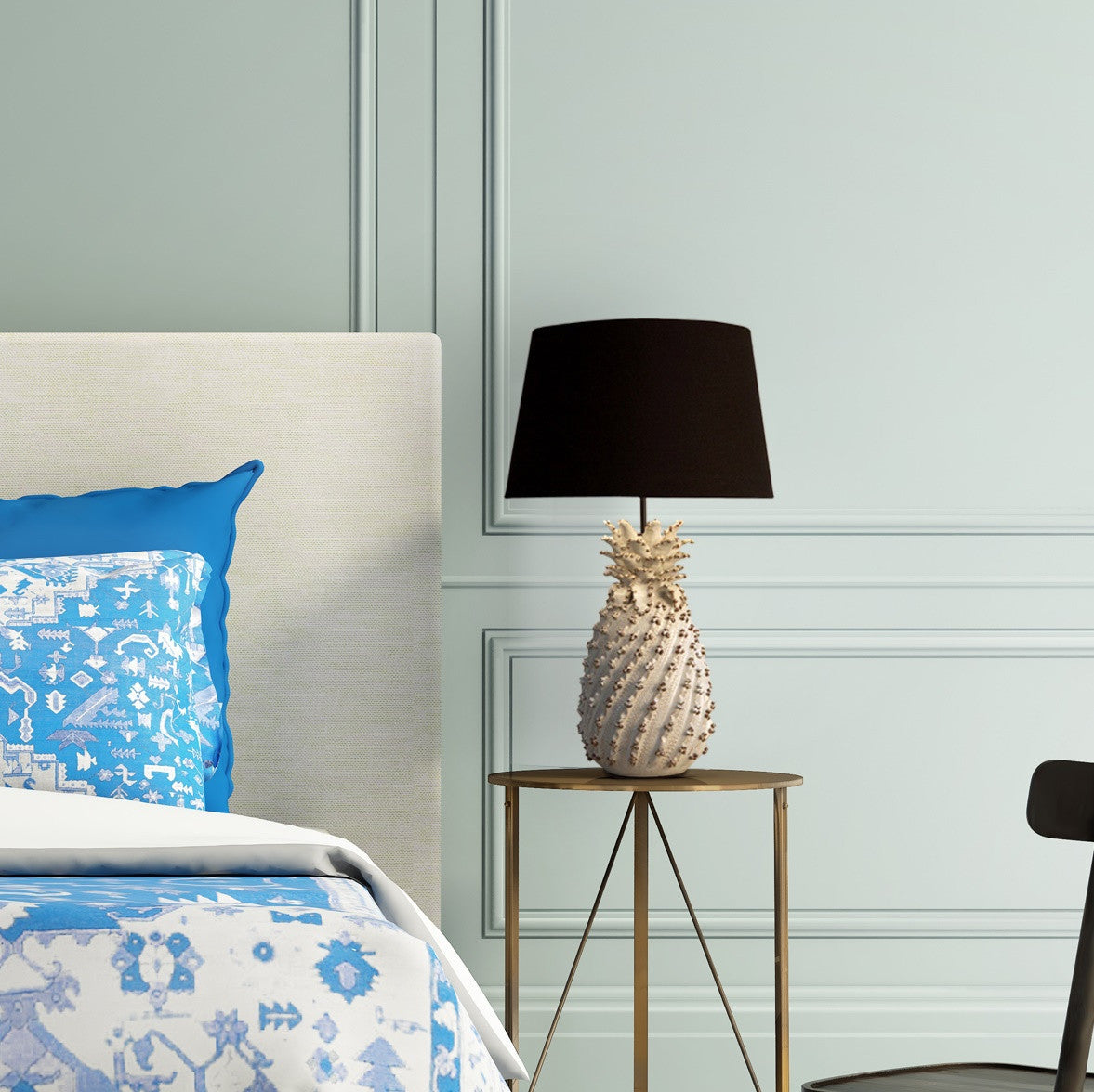 Pineapple Table Lamp in Bedroom | Lighting Collective