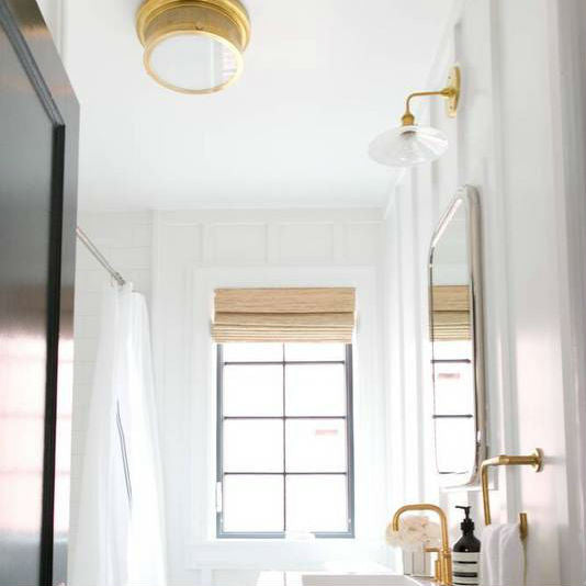 Combined Lighting Plan Bathroom | Brass Bathroom Lights