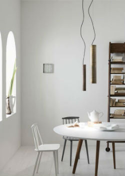 Scandinavian Pendant Light Over Dining Table | Lighting Collective Minimal  Cylindrical Pendant Light Cluster | Lighting Collective ...