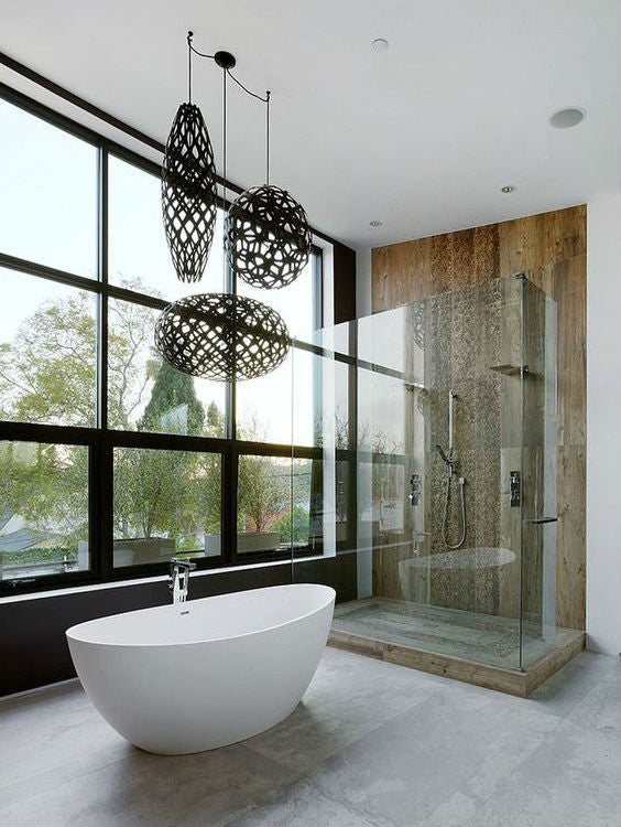 David Trubridge Pendant Light Cluster Bathroom | Lighting Collective