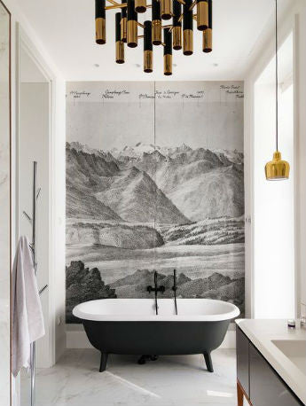 Gold Pendant Lights in Bathroom | Lighting Collective