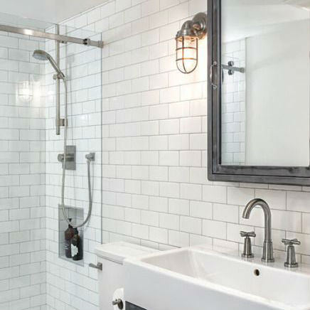 Industrial Bathroom Vanity Light | Jodi Foster Design